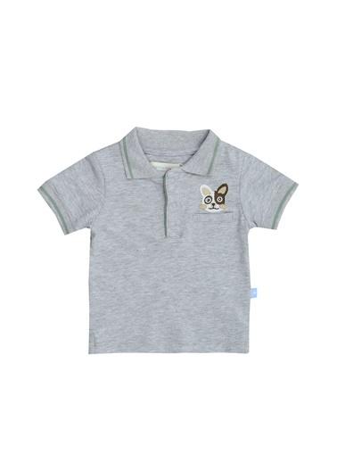 Mammaramma Mammaramma DOG023 Gri Baskılı Erkek Bebek T-Shirt Gri